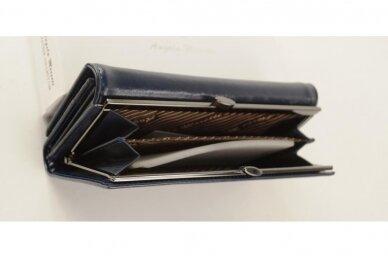 Mėlyna odinė Angela Moretti moteriška piniginė 176b-4 3