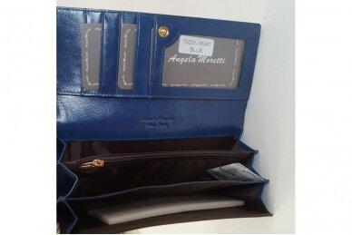 Mėlyna lakuota odinė Angela Moretti moteriška piniginė 72031 3