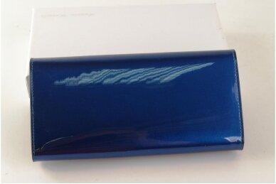Mėlyna lakuota odinė Angela Moretti moteriška piniginė 72032 2