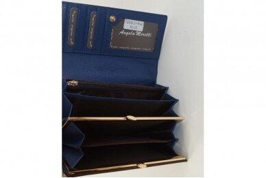 Mėlyna lakuota odinė Angela Moretti moteriška piniginė 72032 3