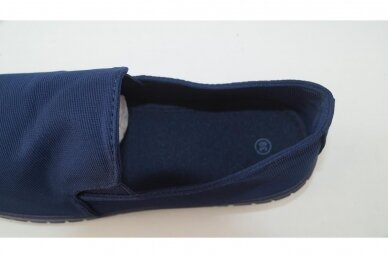 Mėlyni įmaunami medžiaginiai guminiu padu moteriški sportiniai bateliai Bella 5947 4