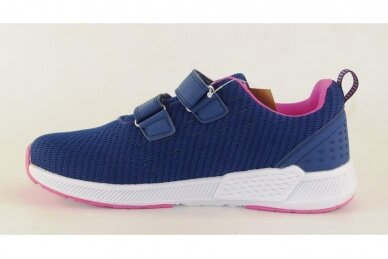 Mėlyni medžiaginiai su lipukais Gelteo moteriški sportiniai bateliai 2032v 2