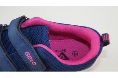 Mėlyni medžiaginiai su lipukais Gelteo moteriški sportiniai bateliai 2032v 4