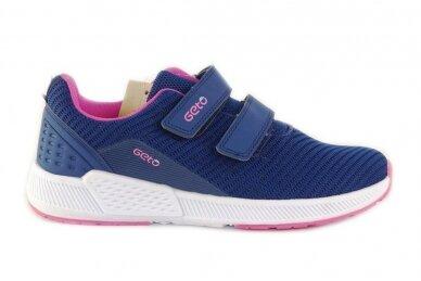 Mėlyni medžiaginiai su lipukais Gelteo moteriški sportiniai bateliai 2032v
