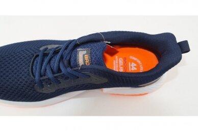 Mėlyni medžiaginiai suvarstomi baltu storu padu Badoxx vyriški sportiniai bateliai 4