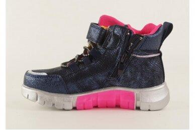 Mėlyni-perlamutriniai suvarstyti gumyte su lipuku ir užtrauktuku šone Clibee  sportiniai aulinukai mergaitėms 8635m 2