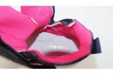 Mėlyni-perlamutriniai suvarstyti gumyte su lipuku ir užtrauktuku šone Clibee  sportiniai aulinukai mergaitėms 8635m 4