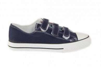 Mėlyni su lipdukais tekstiliniai sportiniai bateliai 0044