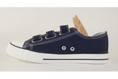 Mėlyni su lipdukais tekstiliniai sportiniai bateliai 0044 2