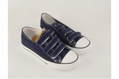 Mėlyni su lipdukais tekstiliniai sportiniai bateliai 0044 3