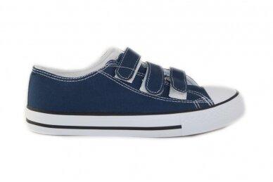 Mėlyni su lipdukais tekstiliniai sportiniai bateliai 0848m