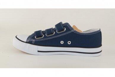 Mėlyni su lipdukais tekstiliniai sportiniai bateliai 0848m 2