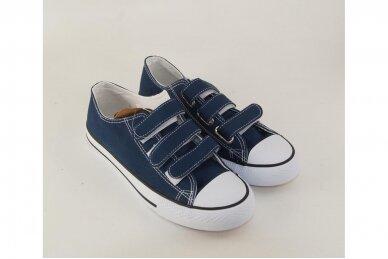 Mėlyni su lipdukais tekstiliniai sportiniai bateliai 0848m 3