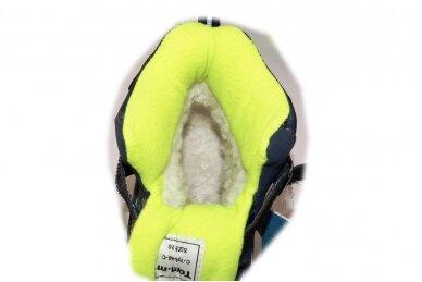 Mėlyni su lipdukais Tomm žieminiai batai berniukams su vilnos kailiu 9408 5