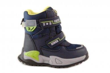 Mėlyni su lipdukais Tomm žieminiai batai berniukams su vilnos kailiu 9408 2