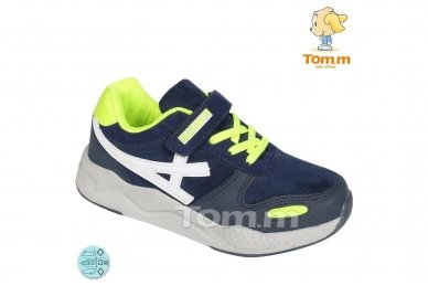 Mėlyni su lipduku suvarstyti gumyte Tomm sportiniai bateliai berniukams 5930