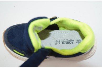 Mėlyni su lipduku suvarstyti gumyte Tomm sportiniai bateliai berniukams 5930 5