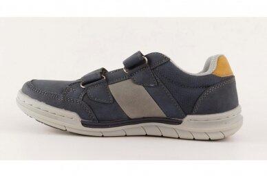 Mėlyni su lipukais laisvalaikio batai berniukams 0482 2