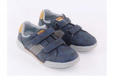 Mėlyni su lipukais laisvalaikio batai berniukams 0482 3