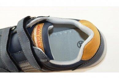 Mėlyni su lipukais laisvalaikio batai berniukams 0482 4