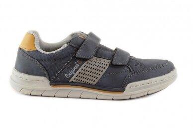 Mėlyni su lipukais laisvalaikio batai berniukams 0482