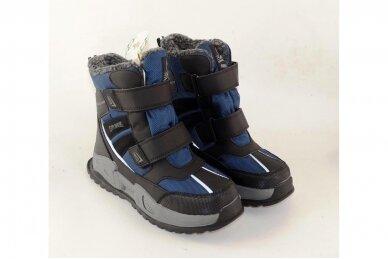 Mėlyni su lipukais Tom.m žieminai batai berniukams su vilnos kailiu 9620 4