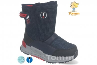 Mėlyni su užtrauktuku šone Tom.m žieminai batai berniukams su vilnos kailiu 9614