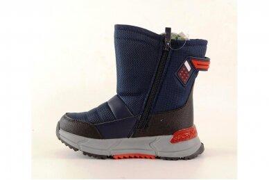 Mėlyni su užtrauktuku šone Tom.m žieminai batai berniukams su vilnos kailiu 9614 3