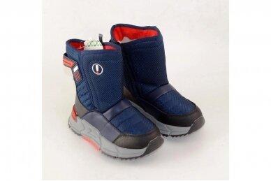 Mėlyni su užtrauktuku šone Tom.m žieminai batai berniukams su vilnos kailiu 9614 4