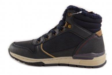 Mėlyni suvarstomi ArrigoBelo žieminiai sportiniai batai su vilnos kailiu paaugliams 9129v 2