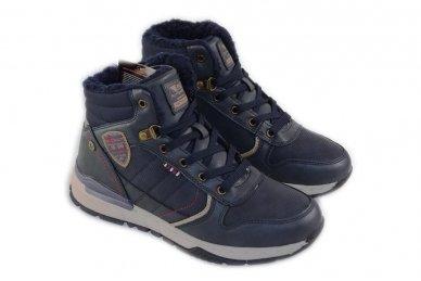 Mėlyni suvarstomi ArrigoBelo žieminiai sportiniai batai su vilnos kailiu paaugliams 9129v 3