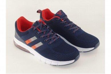 Mėlyni suvarstomi medžiaginiai užsegami lipuku Gelteo sportiniai bateliai 2013 3