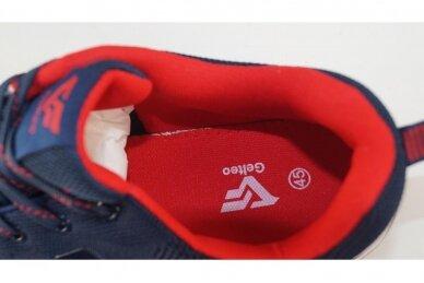 Mėlyni suvarstomi medžiaginiai užsegami lipuku Gelteo sportiniai bateliai 2013 4