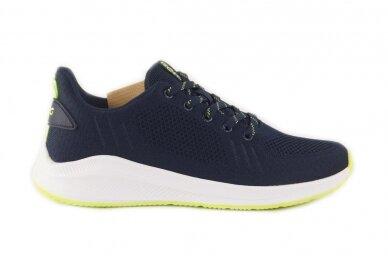 Mėlyni suvarstomi medžiaginiai užsegami lipuku Gelteo sportiniai bateliai 2051