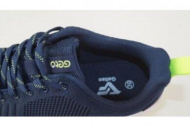 Mėlyni suvarstomi medžiaginiai užsegami lipuku Gelteo sportiniai bateliai 2051 4