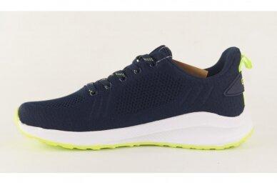 Mėlyni suvarstomi medžiaginiai užsegami lipuku Gelteo sportiniai bateliai 2051 2