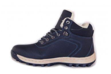 Mėlyni suvarstomi sportiniu padu Ax-Boxing vyriški žieminiai batai 7445 2