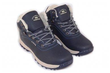 Mėlyni suvarstomi sportiniu padu Ax-Boxing vyriški žieminiai batai 7445 3
