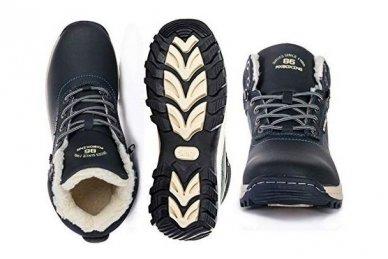 Mėlyni suvarstomi sportiniu padu Ax-Boxing vyriški žieminiai batai 7445 5