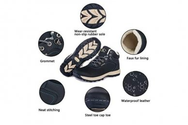 Mėlyni suvarstomi sportiniu padu Ax-Boxing vyriški žieminiai batai 7445 6