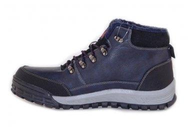 Mėlyni suvarstomi storu sportiniu padu ArrigoBello vyriški žieminiai batai su kailiu 2