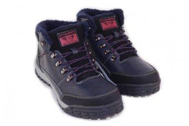 Mėlyni suvarstomi storu sportiniu padu ArrigoBello vyriški žieminiai batai su kailiu 3