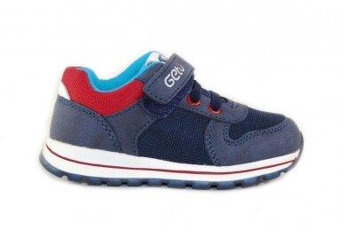 Mėlyni suvarstyti gumyte su lipuku Gelteo laisvalaikio batai berniukams 8601m
