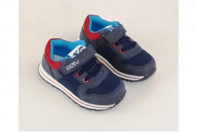 Mėlyni suvarstyti gumyte su lipuku Gelteo laisvalaikio batai berniukams 8601m 3