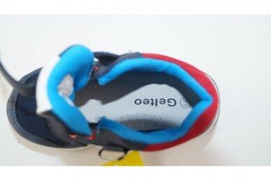 Mėlyni suvarstyti gumyte su lipuku Gelteo laisvalaikio batai berniukams 8601m 4