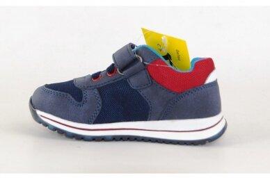 Mėlyni suvarstyti gumyte su lipuku Gelteo laisvalaikio batai berniukams 8601m 2