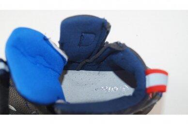 Mėlyni suvarstyti gumyte su lipukais ir užtrauktuku šone Clibee  sportiniai aulinukai berniukams 8637tm 4