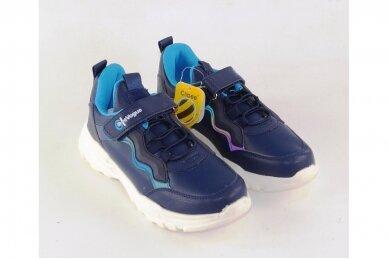 Mėlyni suvarstyti gumyte užsegami lipuku Clibee sportiniai bateliai berniukams 7893 3