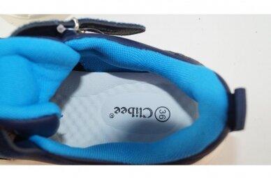 Mėlyni suvarstyti gumyte užsegami lipuku Clibee sportiniai bateliai berniukams 7893 4