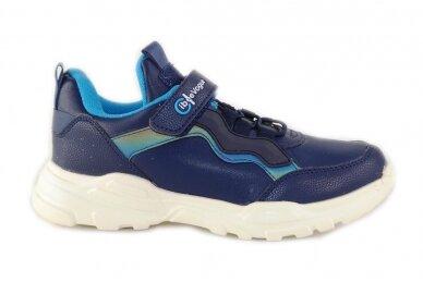 Mėlyni suvarstyti gumyte užsegami lipuku Clibee sportiniai bateliai berniukams 7893